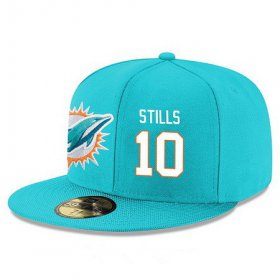 Wholesale Cheap Miami Dolphins #10 Kenny Stills Snapback Cap NFL Player Aqua Green with White Number Stitched Hat
