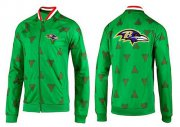 Wholesale Cheap NFL Baltimore Ravens Team Logo Jacket Green