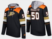 Wholesale Cheap Ducks #50 Antoine Vermette Black Name And Number Hoodie