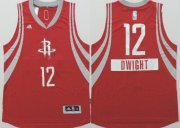 Wholesale Cheap Houston Rockets #12 Dwight Howard Revolution 30 Swingman 2014 Christmas Day Red Jersey