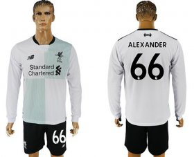 Wholesale Cheap Liverpool #66 Alexander Away Long Sleeves Soccer Club Jersey