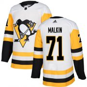 Wholesale Cheap Adidas Penguins #71 Evgeni Malkin White Road Authentic Stitched Youth NHL Jersey