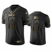 Wholesale Cheap Nike Bears #13 Marvin Hall Black Golden Limited Edition Stitched NFL Jersey