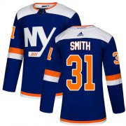 Wholesale Cheap Adidas Islanders #31 Billy Smith Blue Authentic Alternate Stitched NHL Jersey