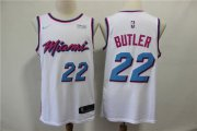 Wholesale Cheap Heat 22 Jimmy Butler White City Edition Nike Swingman Jersey