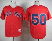 Wholesale Cheap Red Sox #50 Mookie Betts Red Cool Base Stitched MLB Jersey