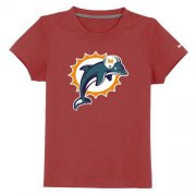 Wholesale Cheap Miami Dolphins Sideline Legend Authentic Logo Youth T-Shirt Red