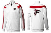 Wholesale Cheap NFL Atlanta Falcons Team Logo Jacket White