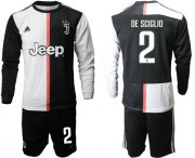 Wholesale Cheap Juventus #2 De Sciglio Home Long Sleeves Soccer Club Jersey