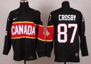 Wholesale Cheap Team Canada 2014 Olympic #87 Sidney Crosby Black Stitched Youth NHL Jersey