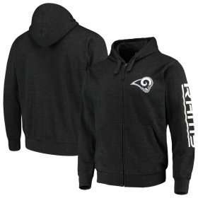Wholesale Cheap Los Angeles Rams G-III Sports by Carl Banks Post Route Full-Zip Hoodie Charcoal