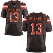 Wholesale Cheap Nike Browns #13 Odell Beckham Jr Brown Team Color Men's Stitched NFL New Elite Jersey