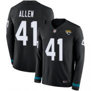 Wholesale Cheap Nike Jaguars #41 Josh Allen Black Team Color Men's Stitched NFL Limited Therma Long Sleeve Jersey