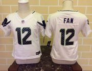 Wholesale Cheap Toddler Nike Seahawks #12 Fan White Stitched NFL Elite Jersey