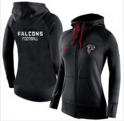 Wholesale Cheap Women's Nike Atlanta Falcons Full-Zip Performance Hoodie Black