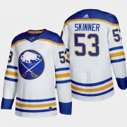 Cheap Buffalo Sabres #53 Jeff Skinner Men's Adidas 2020-21 Away Authentic Player Stitched NHL Jersey White