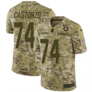 Wholesale Cheap Nike Colts #74 Anthony Castonzo Camo Youth Stitched NFL Limited 2018 Salute To Service Jersey