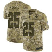 Wholesale Cheap Nike Saints #25 Eli Apple Camo Men's Stitched NFL Limited 2018 Salute To Service Jersey