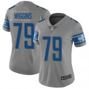 Wholesale Cheap Nike Lions #79 Kenny Wiggins Gray Women's Stitched NFL Limited Inverted Legend Jersey