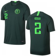 Wholesale Cheap Nigeria #2 Idowu Away Soccer Country Jersey