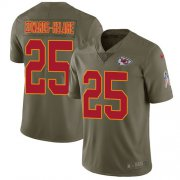 Wholesale Cheap Nike Chiefs #25 Clyde Edwards-Helaire Olive Youth Stitched NFL Limited 2017 Salute To Service Jersey