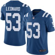 Wholesale Cheap Nike Colts #53 Darius Leonard Royal Blue Youth Stitched NFL Limited Rush Jersey