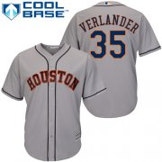 Wholesale Cheap Astros #35 Justin Verlander Grey New Cool Base Stitched MLB Jersey