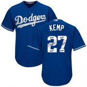 Wholesale Cheap Dodgers #27 Matt Kemp Blue Team Logo Fashion Stitched MLB Jersey