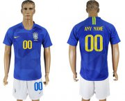 Wholesale Cheap Brazil Personalized Away Soccer Country Jersey