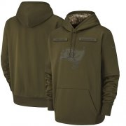 Wholesale Cheap Men's Tampa Bay Buccaneers Nike Olive Salute to Service Sideline Therma Performance Pullover Hoodie