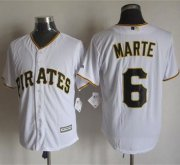 Wholesale Cheap Pirates #6 Starling Marte White New Cool Base Stitched MLB Jersey