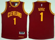 Wholesale Cheap Cleveland Cavaliers #1 Derrick Rose Red Road Stitched NBA Jersey