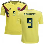 Wholesale Cheap Colombia #9 R.Martinez Home Kid Soccer Country Jersey