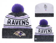 Wholesale Cheap NFL Baltimore Ravens Logo Stitched Knit Beanies 019