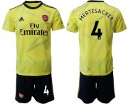 Wholesale Cheap Arsenal #4 Mertesacker Yellow Soccer Club Jersey