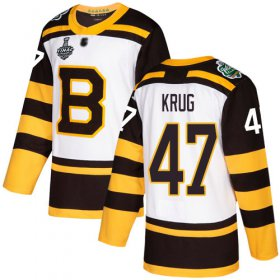Wholesale Cheap Adidas Bruins #47 Torey Krug White Authentic 2019 Winter Classic Stanley Cup Final Bound Youth Stitched NHL Jersey