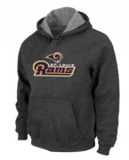 Wholesale Cheap Los Angeles Rams Authentic Logo Pullover Hoodie Dark Grey