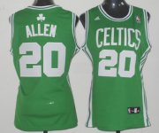 Wholesale Cheap Boston Celtics #20 Ray Allen Green Womens Jersey