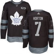Wholesale Cheap Adidas Maple Leafs #7 Tim Horton Black 1917-2017 100th Anniversary Stitched NHL Jersey