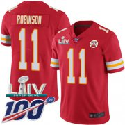 Wholesale Cheap Nike Chiefs #11 Demarcus Robinson Red Super Bowl LIV 2020 Team Color Men's Stitched NFL 100th Season Vapor Untouchable Limited Jersey