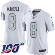 Wholesale Cheap Nike Raiders #8 Marcus Mariota White Men's Stitched NFL Limited Rush 100th Season Jersey