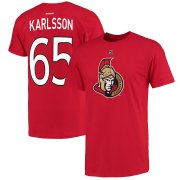 Wholesale Cheap Ottawa Senators #65 Erik Karlsson Reebok Name and Number Player T-Shirt Red