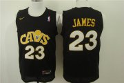 Wholesale Cheap Nike Cleveland Cavaliers #23 LeBron James Black Men's Stitched NBA Jersey