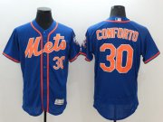 Wholesale Cheap Mets #30 Michael Conforto Blue Flexbase Authentic Collection Stitched MLB Jersey