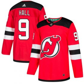 Wholesale Cheap Adidas Devils #9 Taylor Hall Red Home Authentic Stitched Youth NHL Jersey