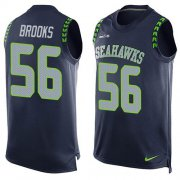 Wholesale Cheap Nike Seahawks #56 Jordyn Brooks Steel Blue Team Color Men's Stitched NFL Limited Tank Top Jersey
