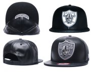 Wholesale Cheap NFL Oakland Raiders Team Logo Black Reflective Adjustable Hat