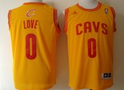 Wholesale Cheap Cleveland Cavaliers #0 Kevin Love Revolution 30 Swingman Yellow Jersey