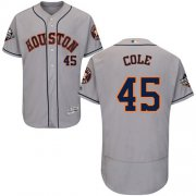 Wholesale Cheap Astros #45 Gerrit Cole Grey Flexbase Authentic Collection 2019 World Series Bound Stitched MLB Jersey