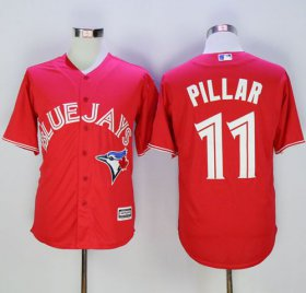 Wholesale Cheap Blue Jays #11 Kevin Pillar Red New Cool Base 40th Anniversary Stitched MLB Jersey